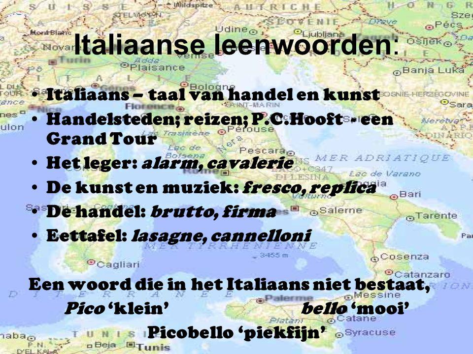Italiaanse leenwoorden: