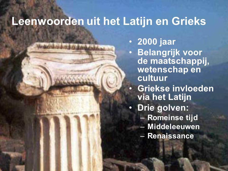Leenwoorden uit het Latijn en Grieks