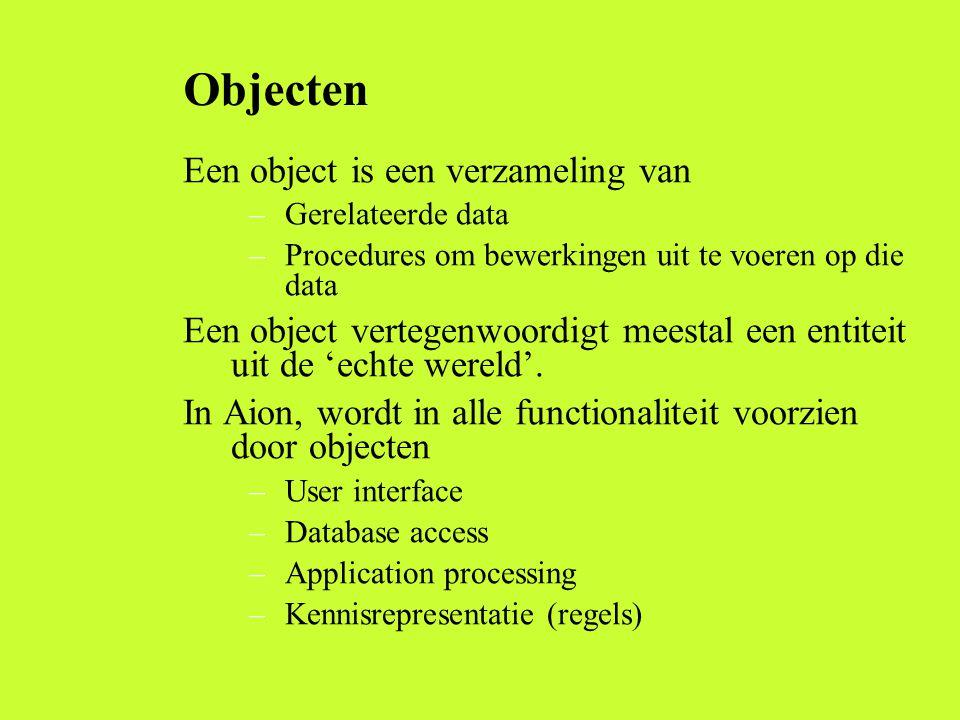 Objecten Een object is een verzameling van