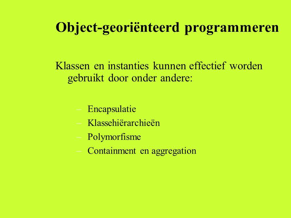 Object-georiënteerd programmeren
