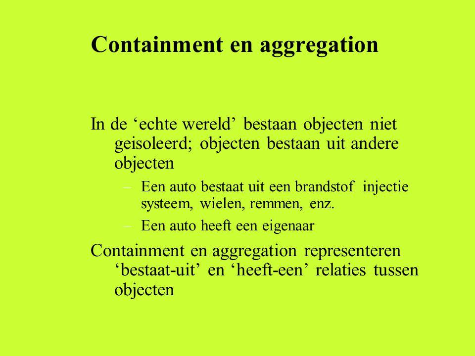 Containment en aggregation