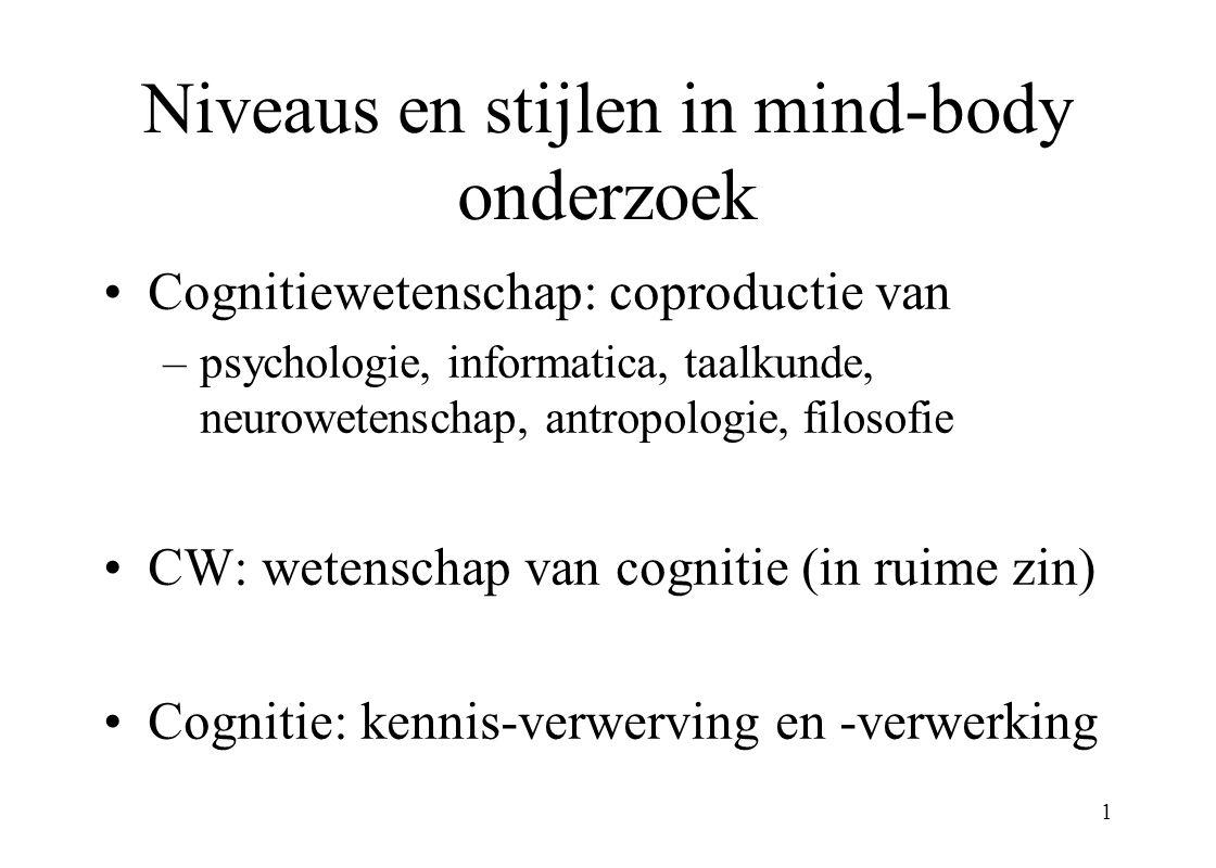 Niveaus en stijlen in mind-body onderzoek