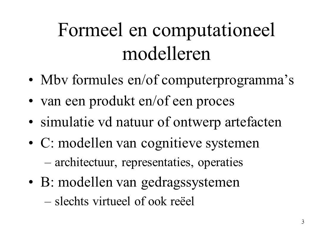 Formeel en computationeel modelleren