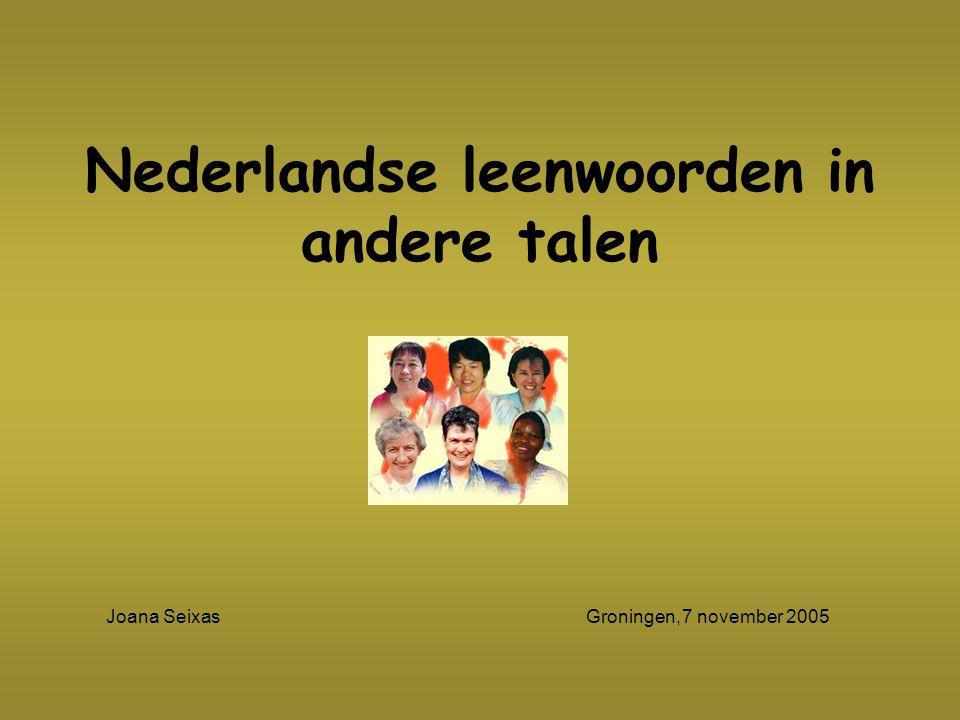 Nederlandse leenwoorden in andere talen