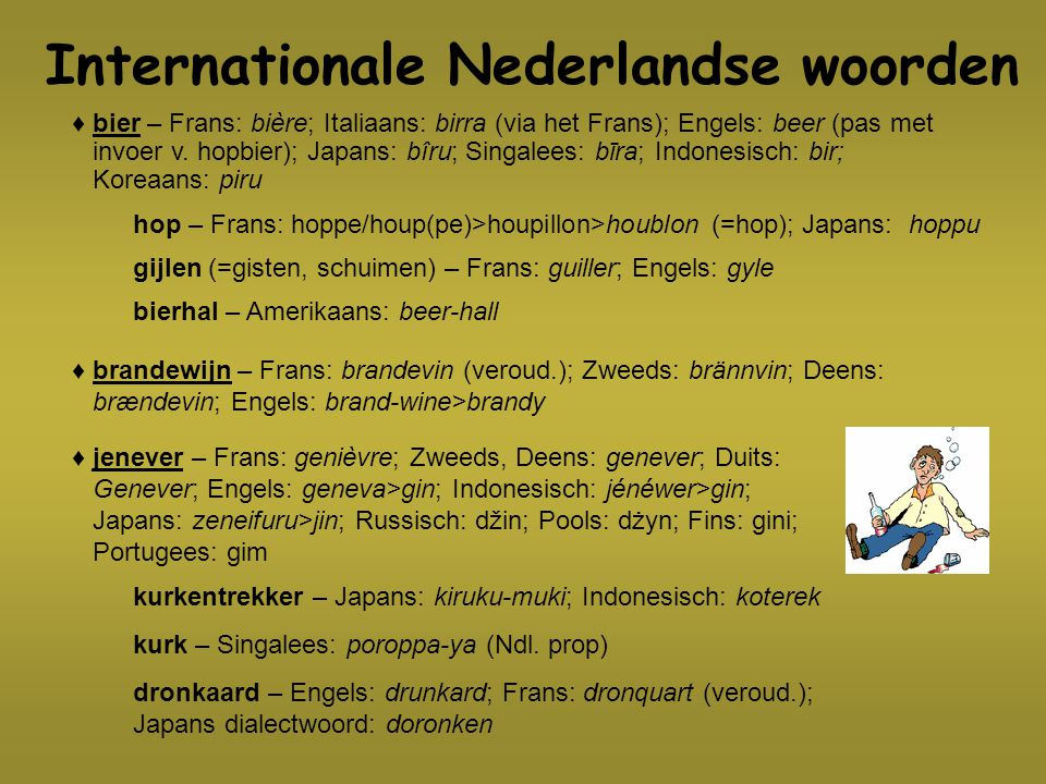Internationale Nederlandse woorden