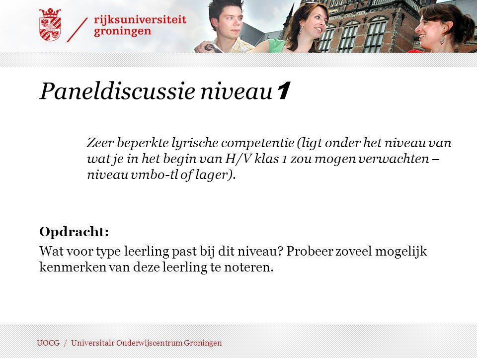 Paneldiscussie niveau1
