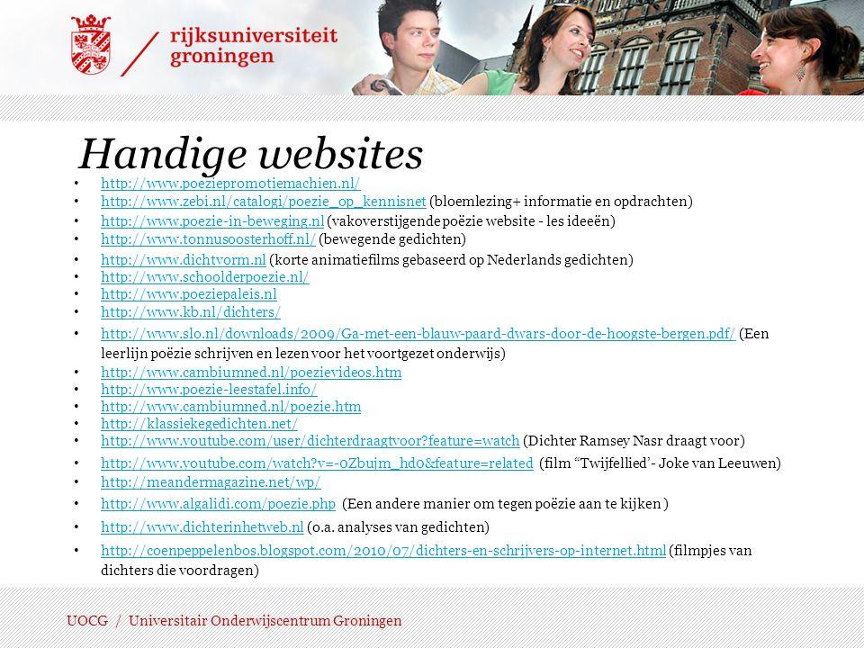 Handige websites http://www.poeziepromotiemachien.nl/