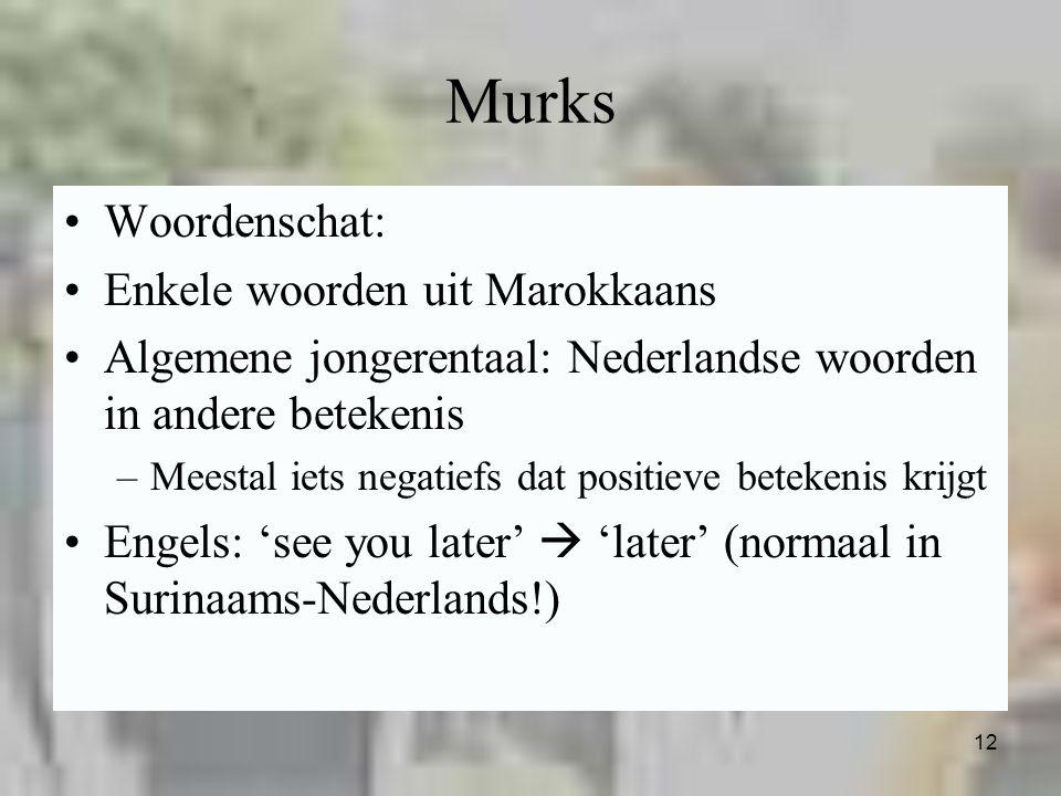 Murks Woordenschat: Enkele woorden uit Marokkaans