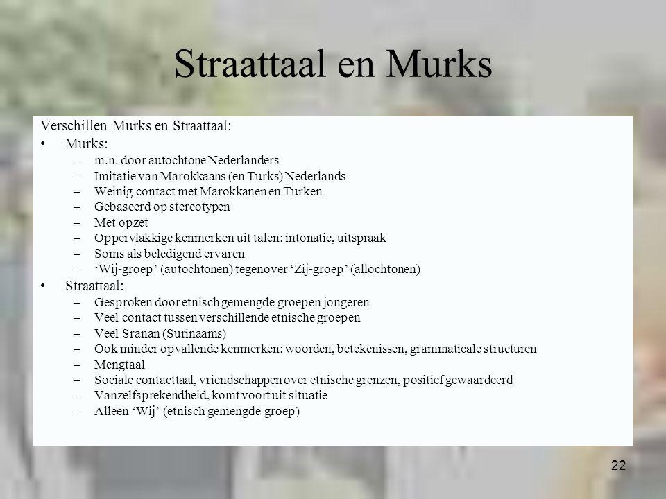 Straattaal en Murks Verschillen Murks en Straattaal: Murks: