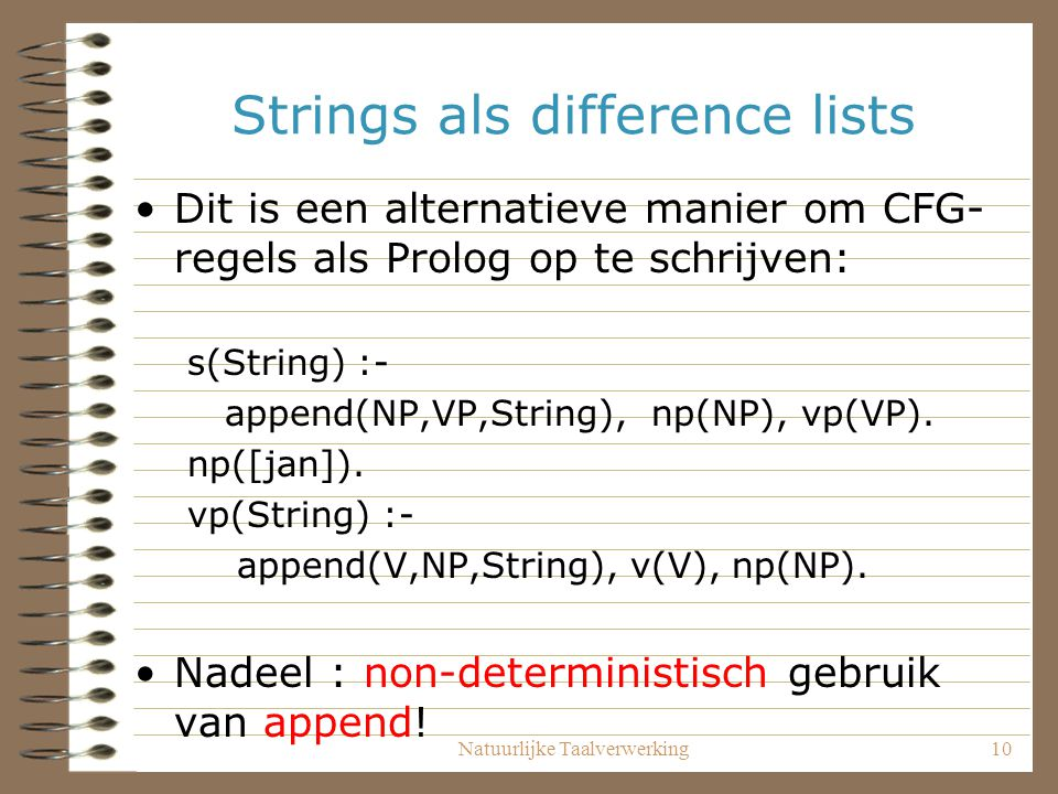Strings als difference lists