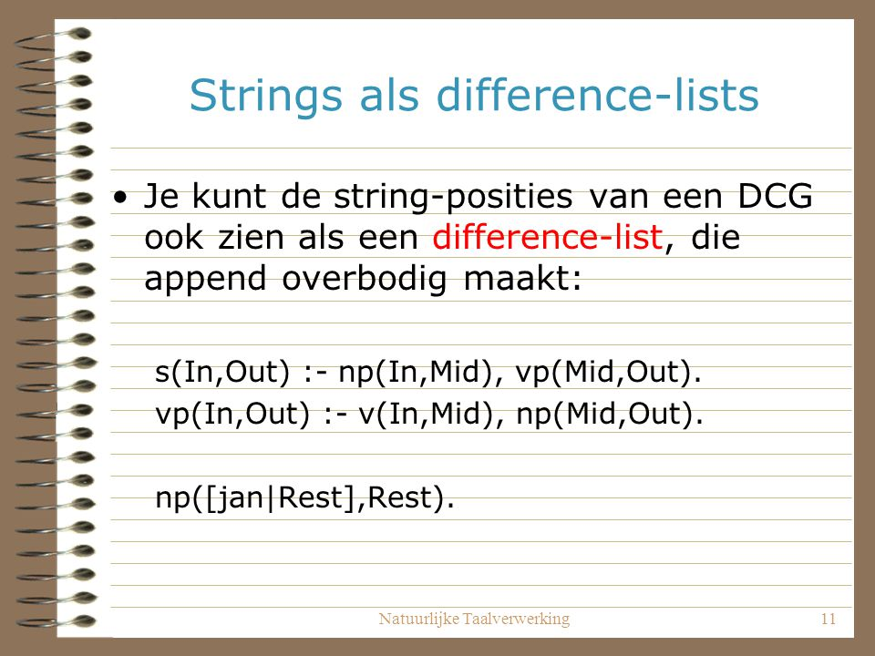 Strings als difference-lists