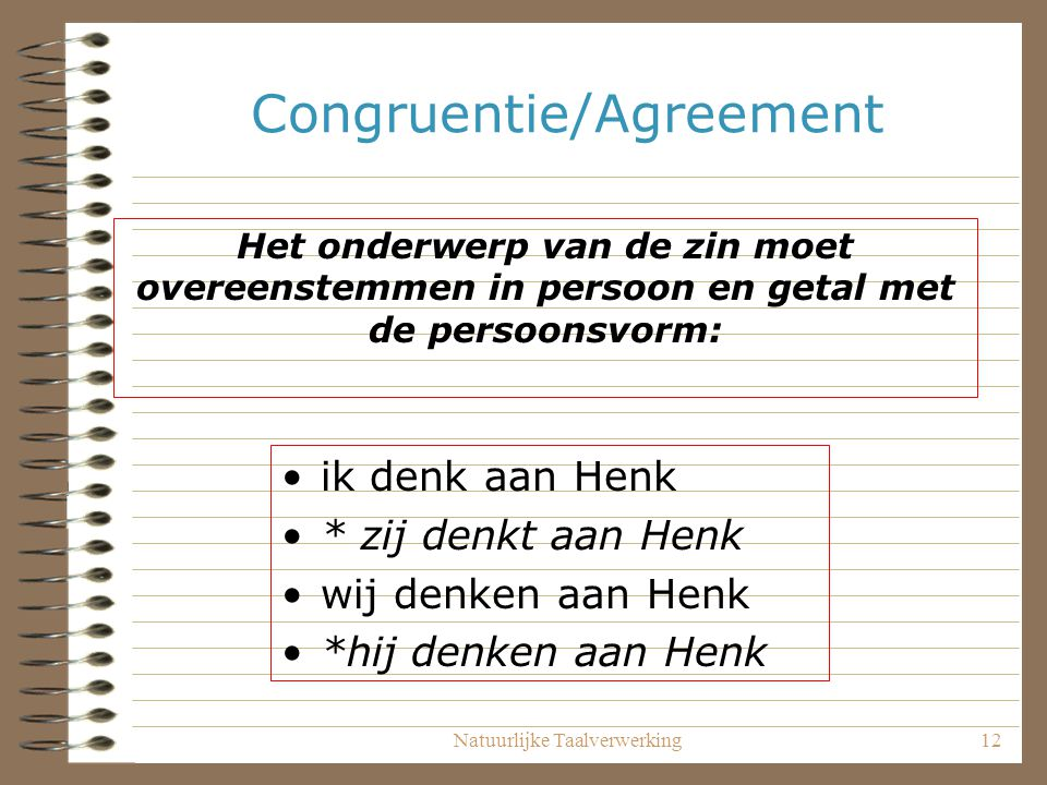 Congruentie/Agreement