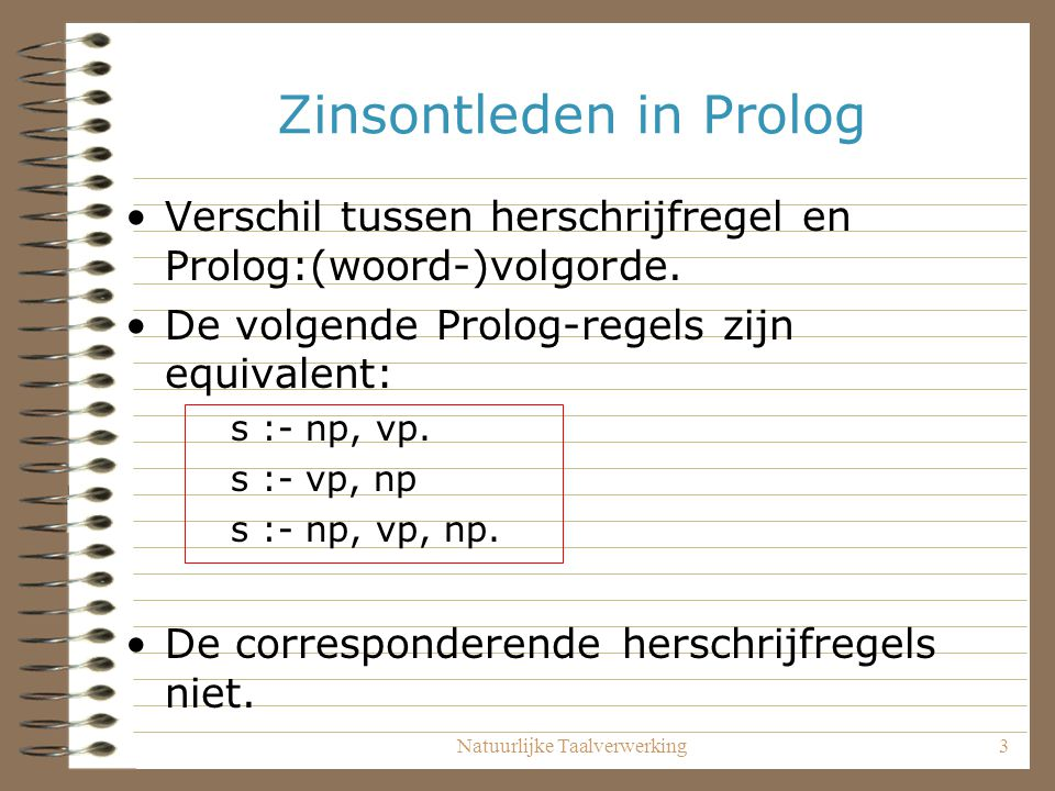 Zinsontleden in Prolog