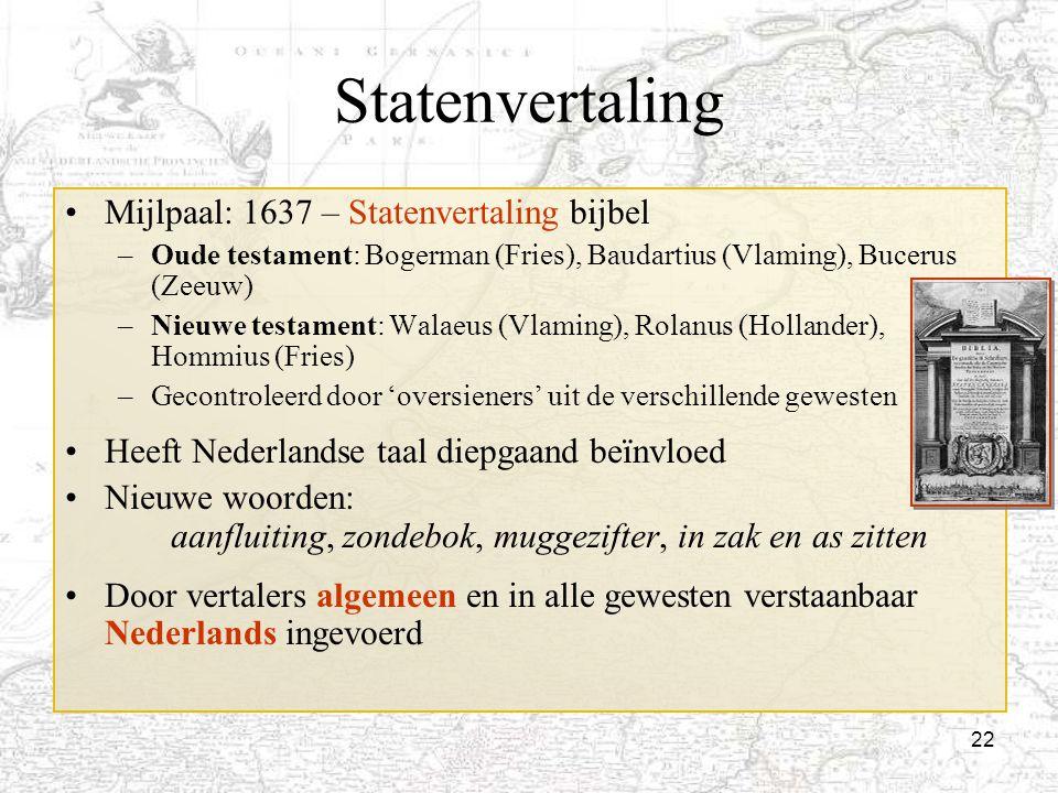 Statenvertaling Mijlpaal: 1637 – Statenvertaling bijbel