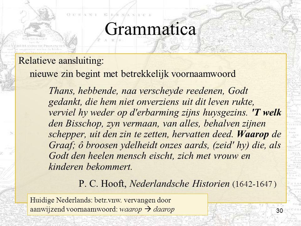 Grammatica Relatieve aansluiting: