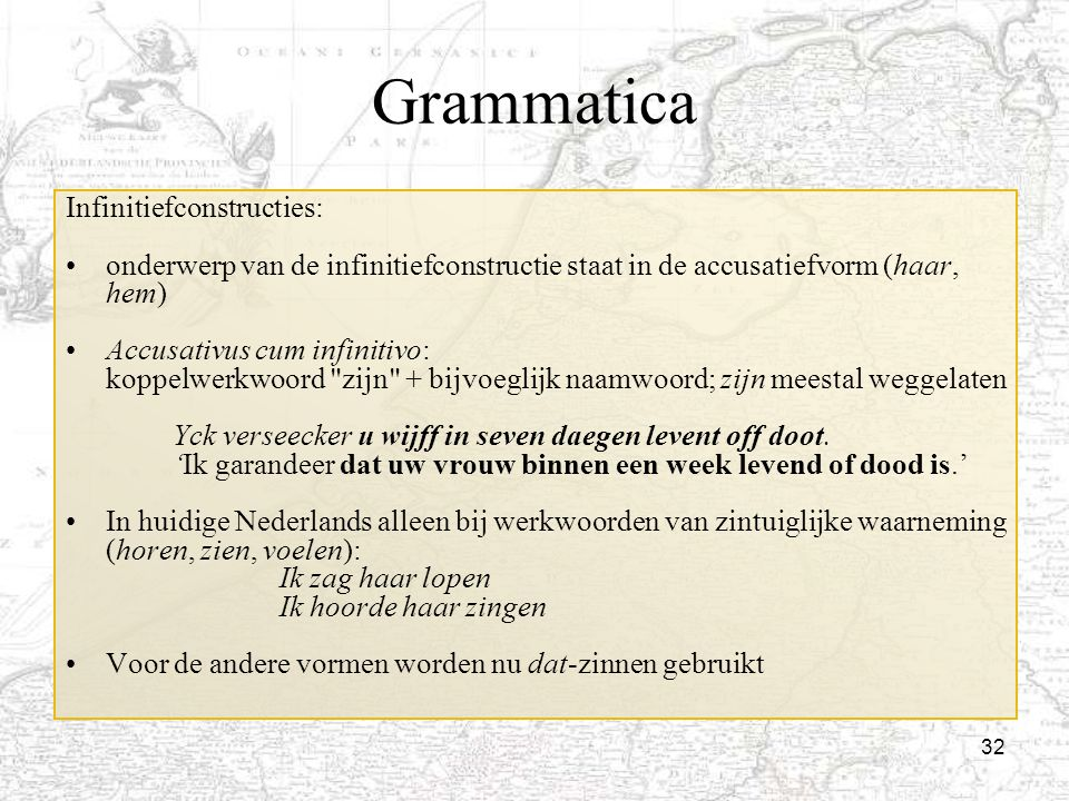 Grammatica Infinitiefconstructies: