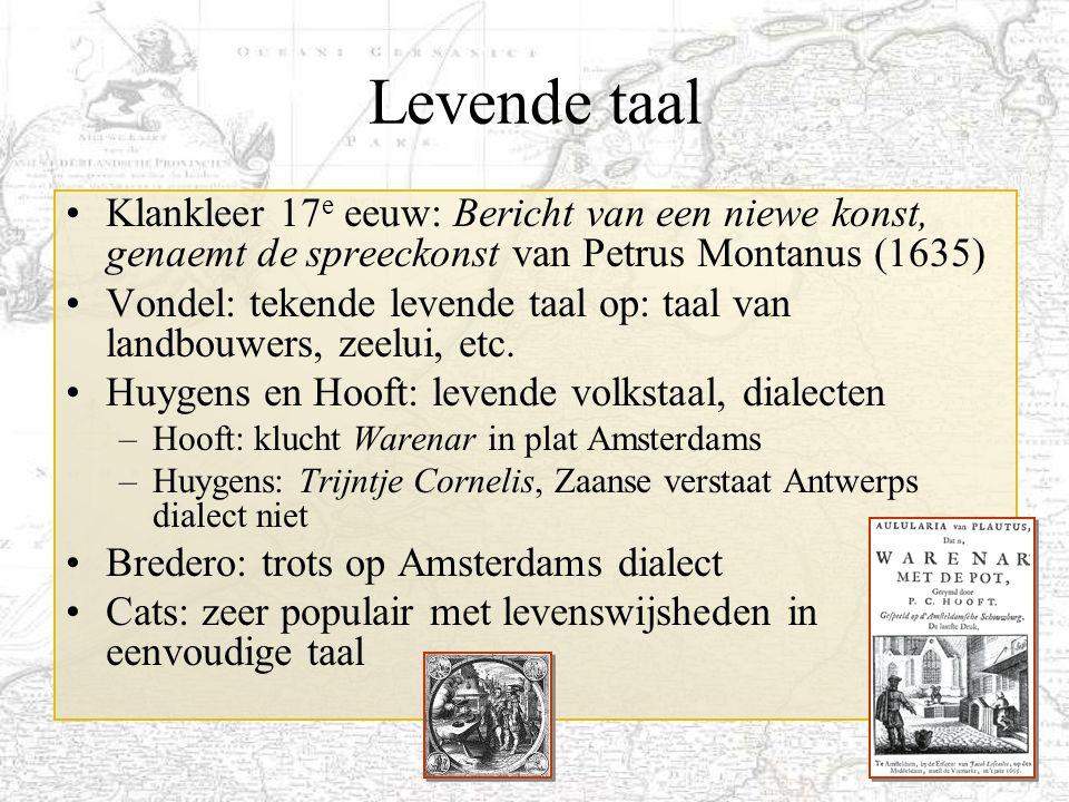 Levende taal Klankleer 17e eeuw: Bericht van een niewe konst, genaemt de spreeckonst van Petrus Montanus (1635)