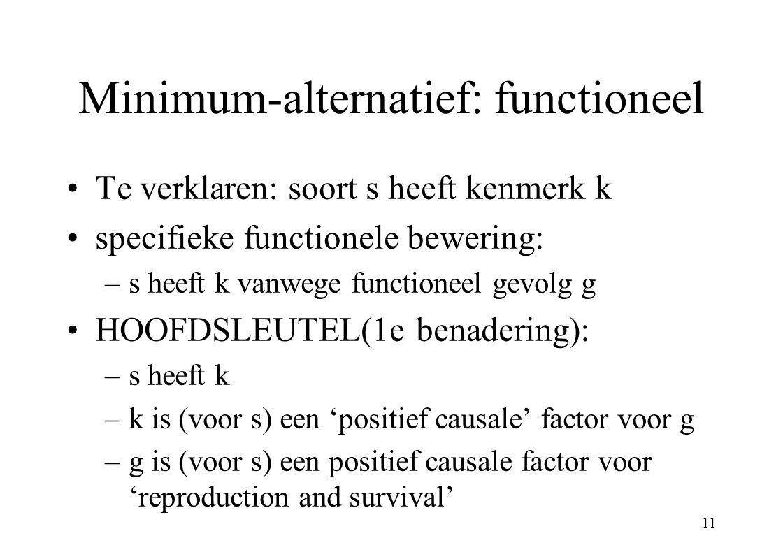 Minimum-alternatief: functioneel