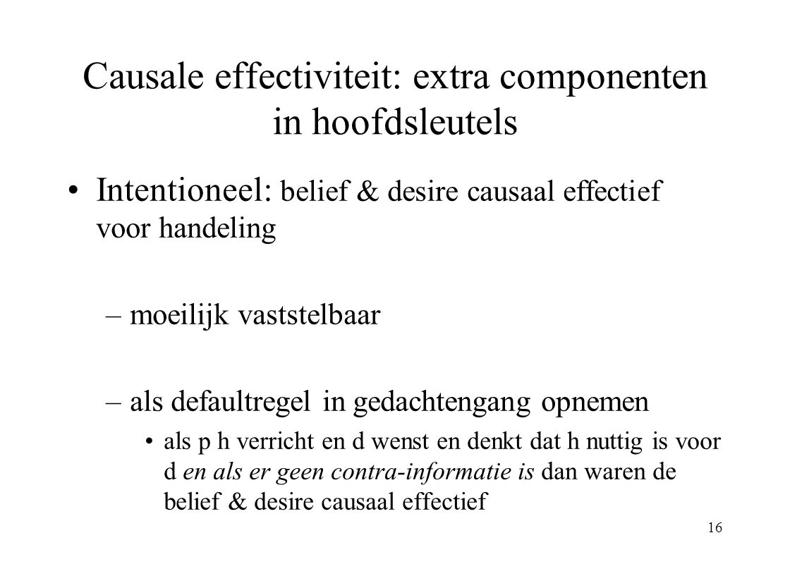 Causale effectiviteit: extra componenten in hoofdsleutels