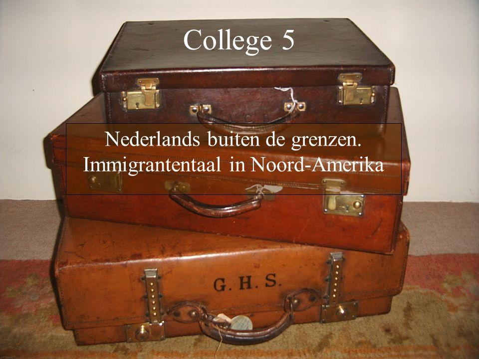 Nederlands buiten de grenzen. Immigrantentaal in Noord-Amerika