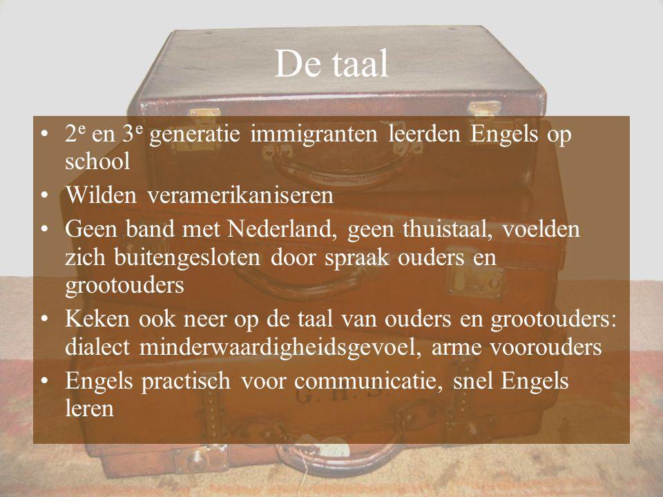 De taal 2e en 3e generatie immigranten leerden Engels op school