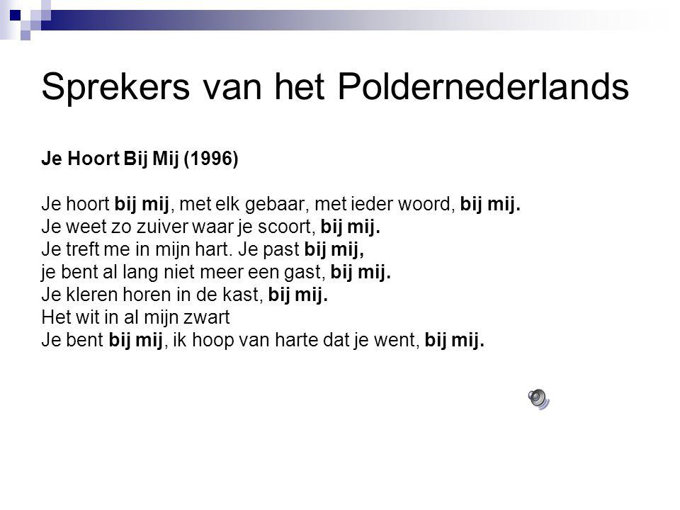 Sprekers van het Poldernederlands