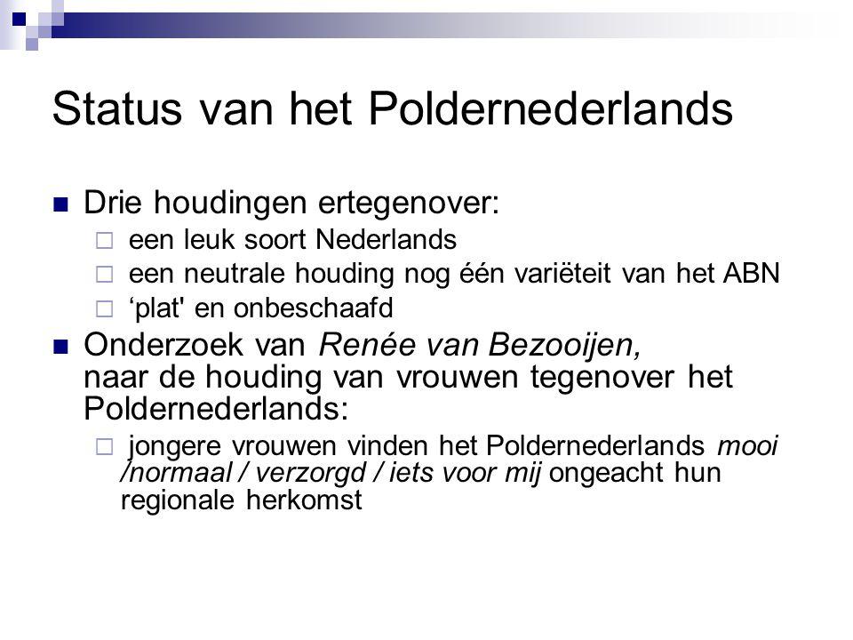 Status van het Poldernederlands