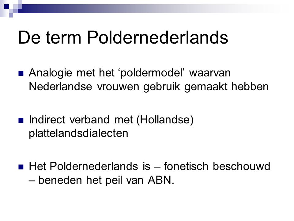 De term Poldernederlands