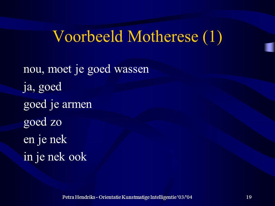Voorbeeld Motherese (1)
