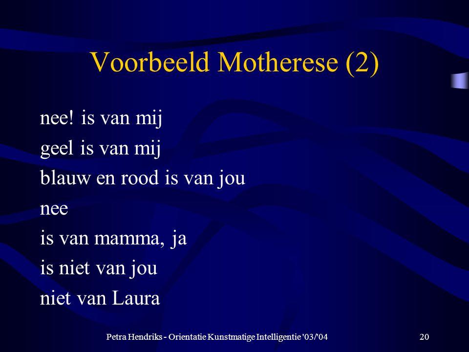 Voorbeeld Motherese (2)