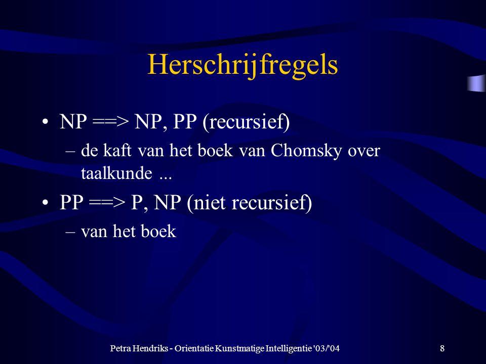 Petra Hendriks - Orientatie Kunstmatige Intelligentie 03/ 04