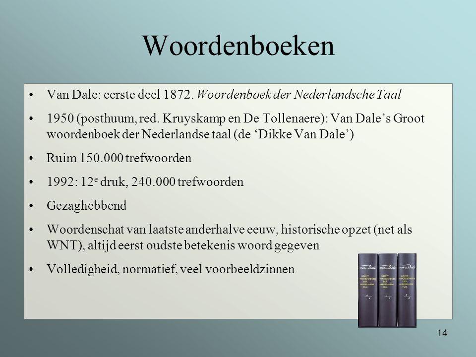 Woordenboeken Van Dale: eerste deel 1872. Woordenboek der Nederlandsche Taal.