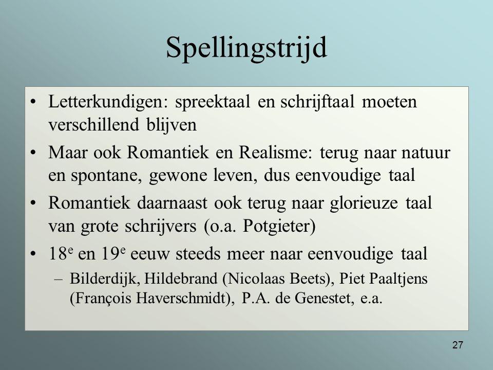 Spellingstrijd Letterkundigen: spreektaal en schrijftaal moeten verschillend blijven.