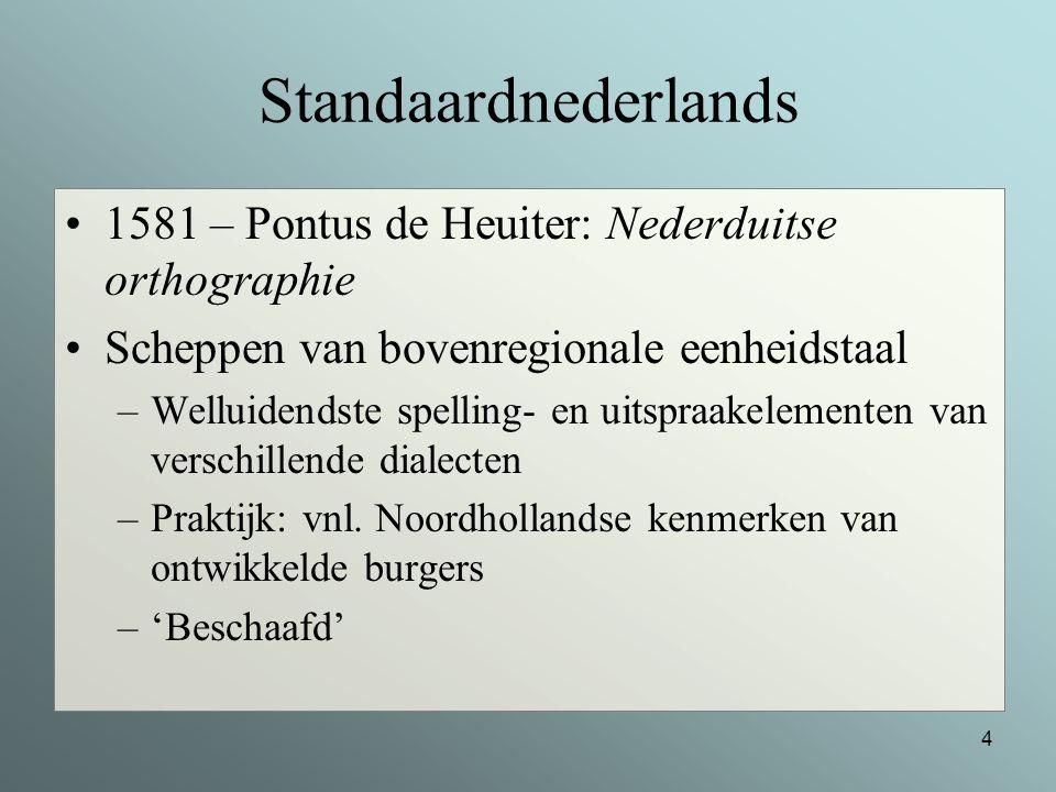 Standaardnederlands 1581 – Pontus de Heuiter: Nederduitse orthographie