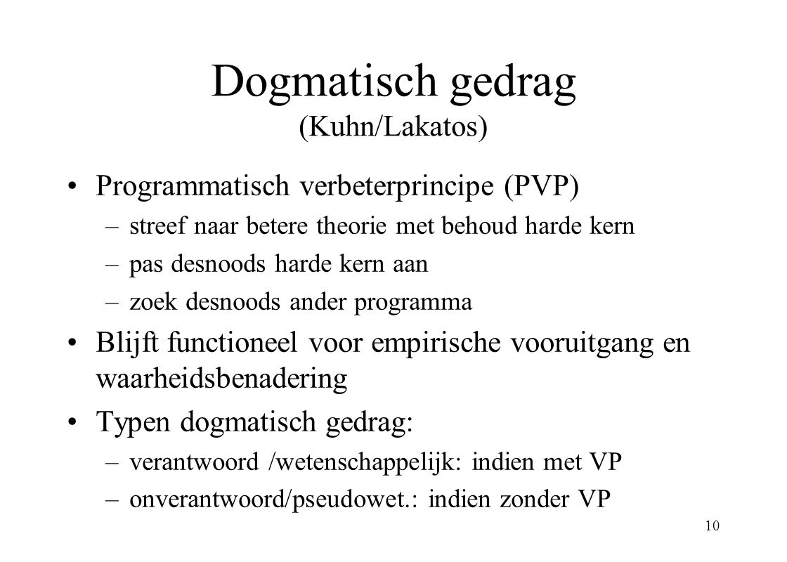 Dogmatisch gedrag (Kuhn/Lakatos)