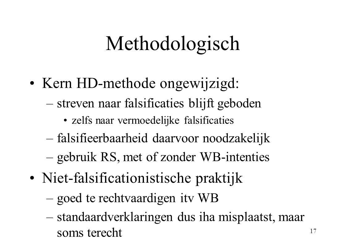Methodologisch Kern HD-methode ongewijzigd: