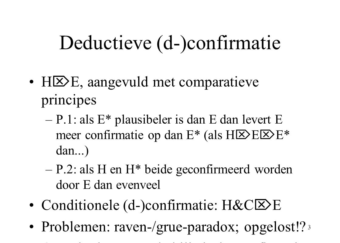 Deductieve (d-)confirmatie