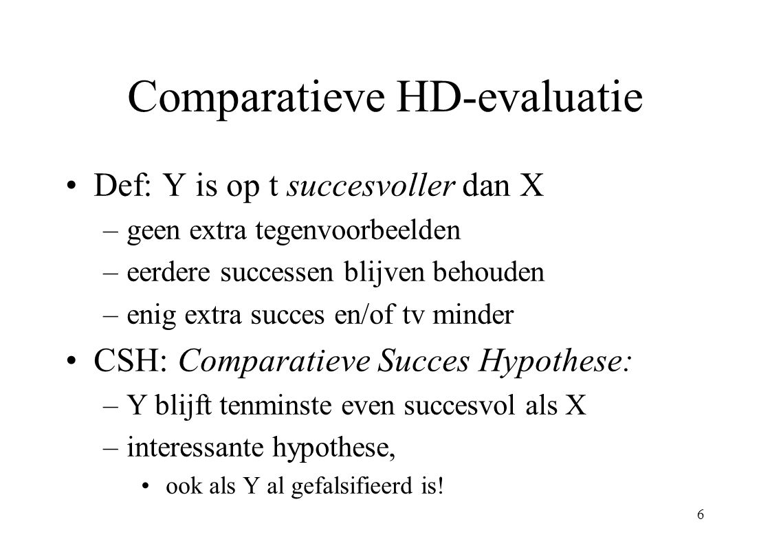 Comparatieve HD-evaluatie