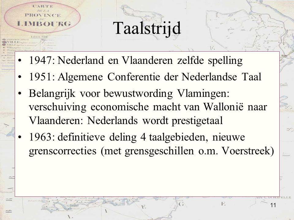 Taalstrijd 1947: Nederland en Vlaanderen zelfde spelling