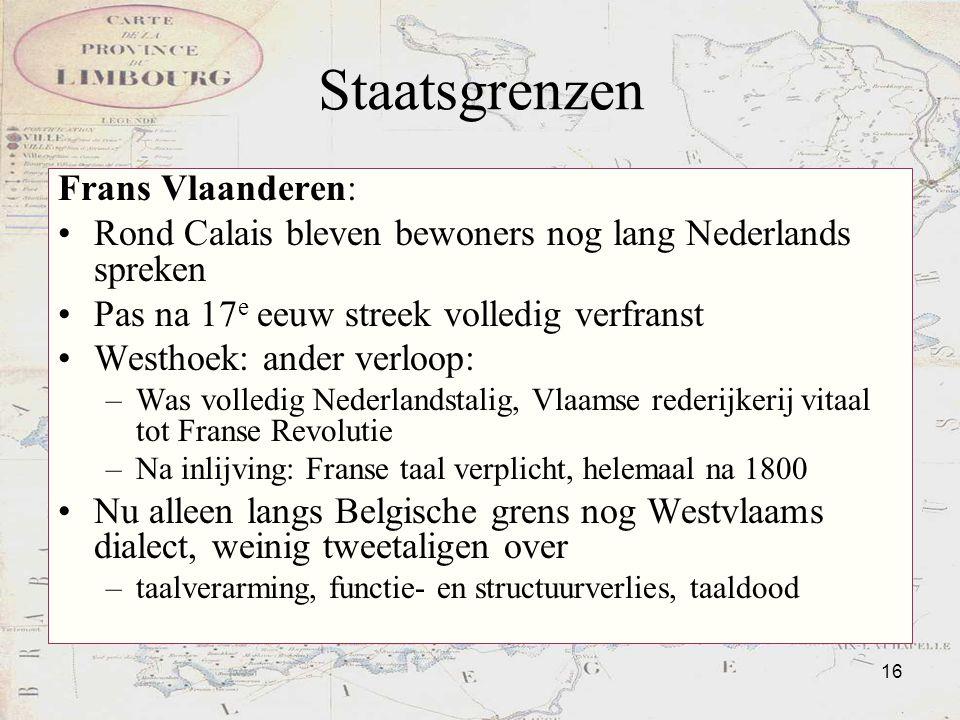 Staatsgrenzen Frans Vlaanderen: