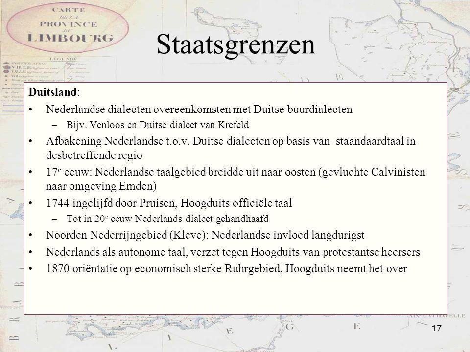 Staatsgrenzen Duitsland: