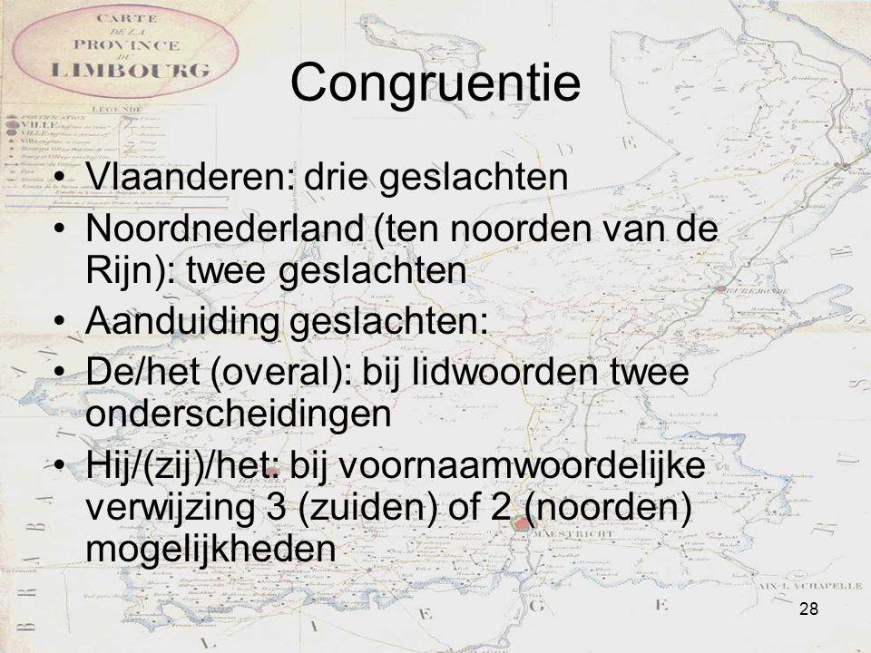 Congruentie Vlaanderen: drie geslachten