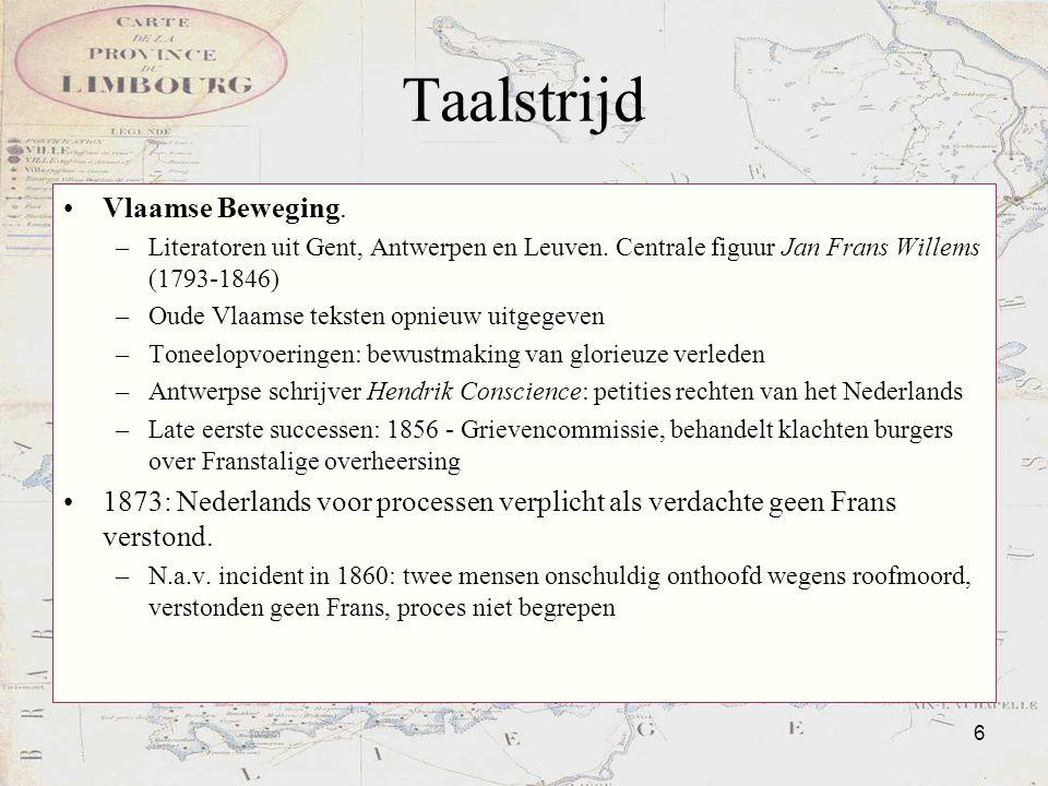 Taalstrijd Vlaamse Beweging.