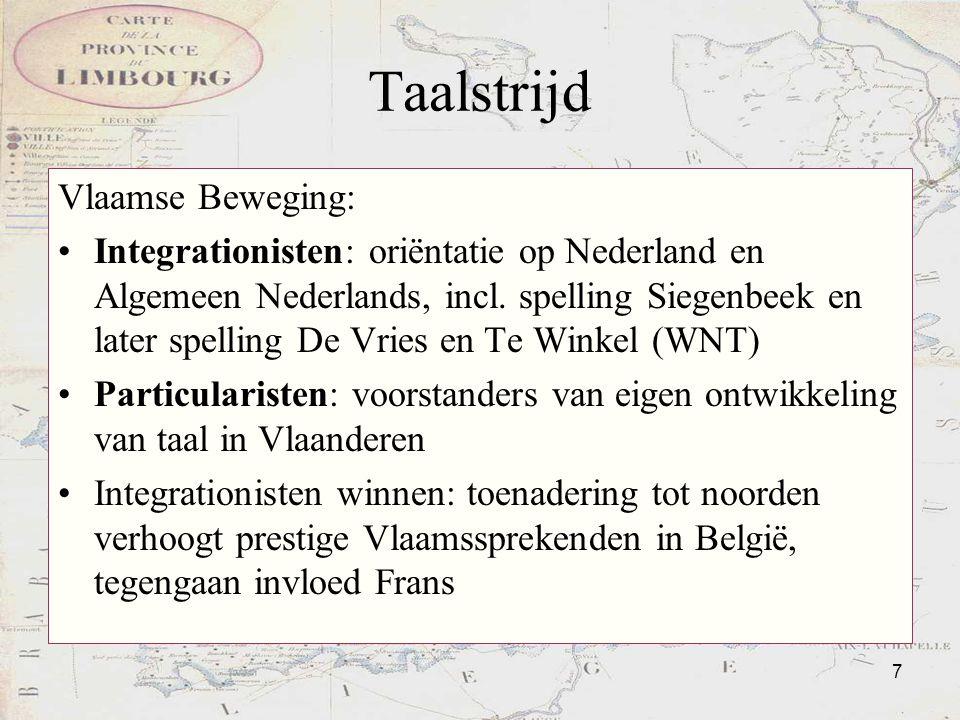 Taalstrijd Vlaamse Beweging:
