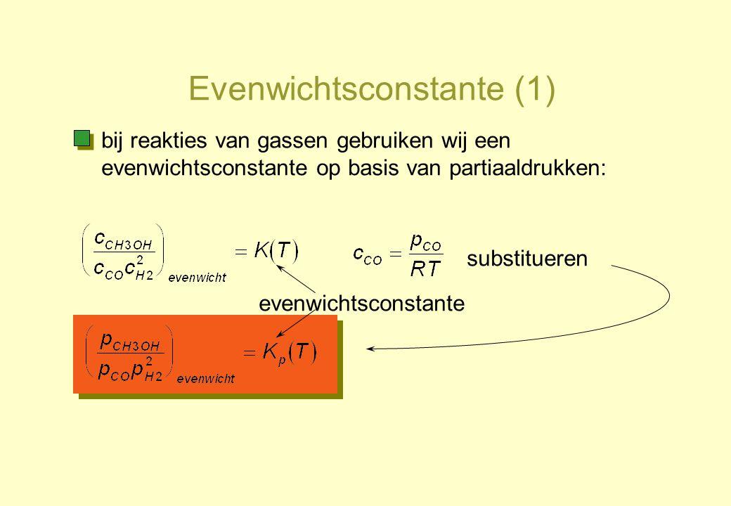 Evenwichtsconstante (1)