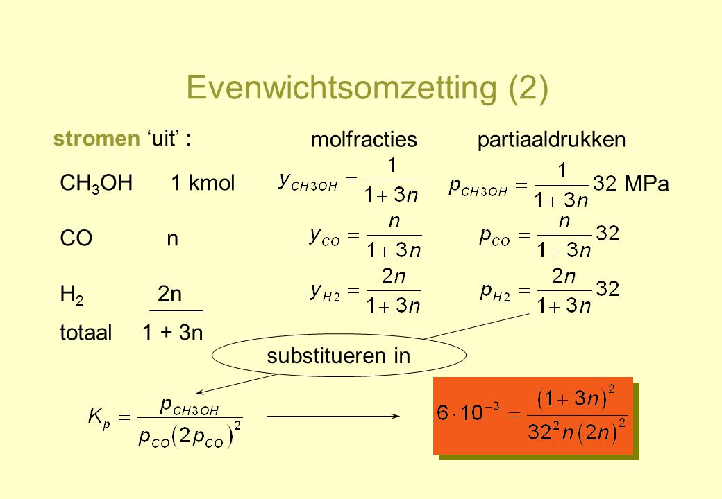 Evenwichtsomzetting (2)