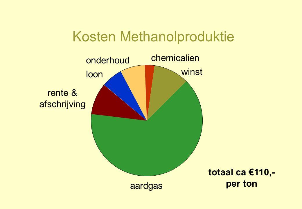 Kosten Methanolproduktie