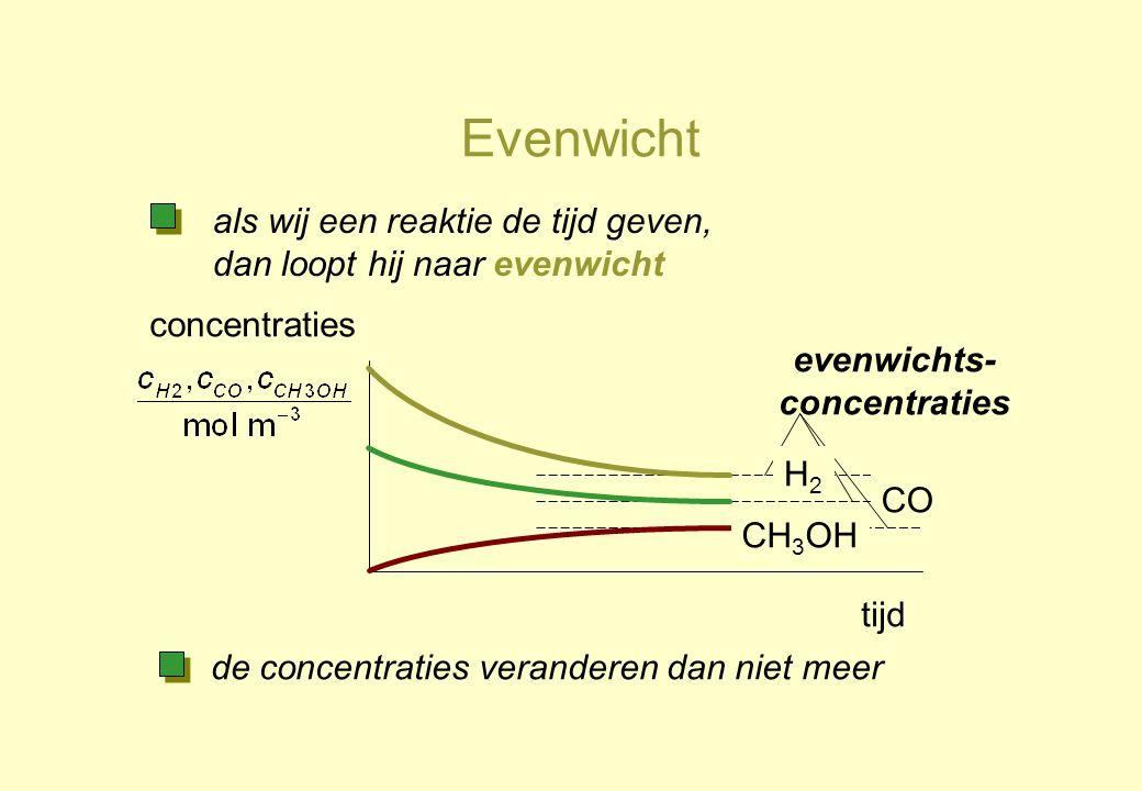 evenwichts-concentraties