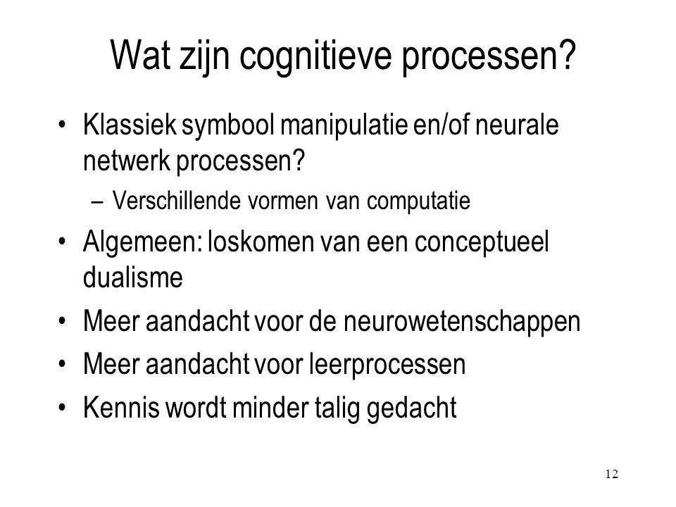 Wat zijn cognitieve processen