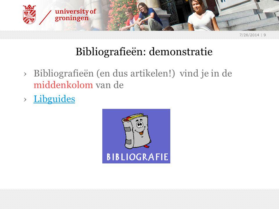 Bibliografieën: demonstratie